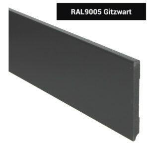 MDF Moderne plint 120x12 voorgelakt RAL 9005