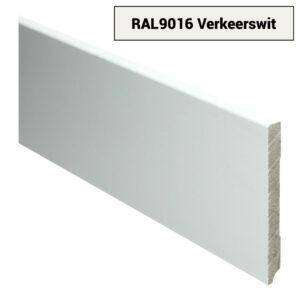 MDF Moderne plint 120x12 voorgelakt RAL 9016