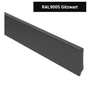 MDF Moderne plint 70x15 voorgelakt RAL 9005