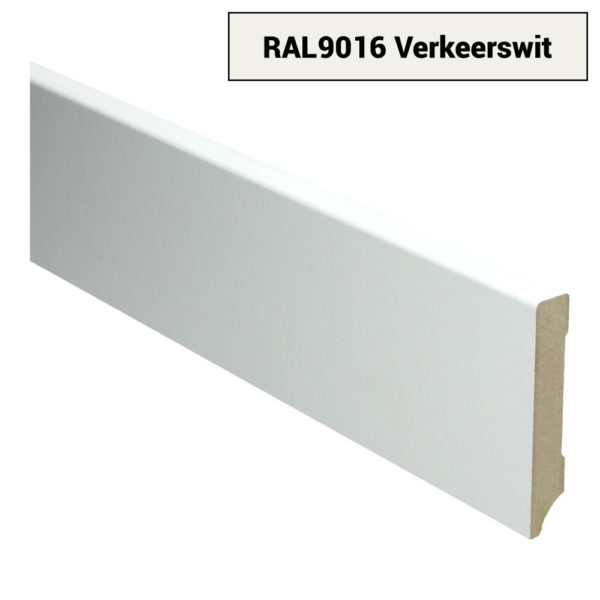 MDF Moderne plint 90x15 voorgelakt RAL 9016