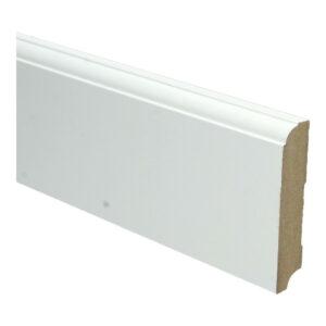 Whiteline plint kwartrondkraal 90x18 wit gefolied