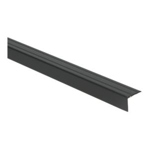 Hoeklijnprofiel 20mm zwart 1 meter lang