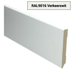 MDF Moderne plint 120x15 wit voorgelakt RAL 9016